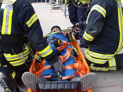 Verletzter am Boden angekommen
